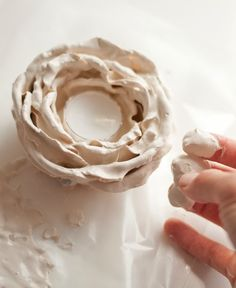 How To Make Candle Holders Using Silk Flowers and Plaster of Paris
