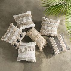 Handmade Cushion Covers, Handmade Cushions, Natural Cushion Covers, Natural Cushions, Bohemian Interior, Bohemian Decor, Bohemian Apartment, White Bohemian, Shabby Chic Homes