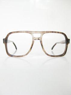 75cdd81ba7e Aviator Eyeglasses 1970s Unisex Glasses Tortoiseshell Optical Frames  Oversized Wayfarer Indie Hipster 70s Mens Womens USA
