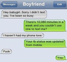 Intelligent girlfriend :D