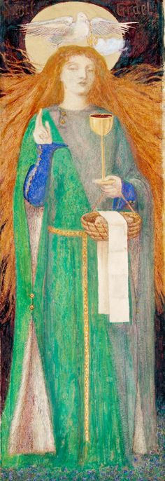 The Damsel of Sanct Grael, Dante Gabriel Rossetti, 1857, Tate Dante Gabriel Rossetti, John Everett Millais, William Morris, Pre Raphaelite Paintings, Pre Raphaelite Brotherhood, Edward Burne Jones, Art Fund, Tate Britain, Mary Magdalene