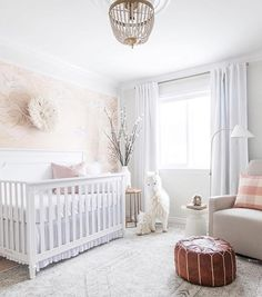 WEBSTA @ posh_baby_ - Let the sunshine in  beautiful nursery by @leclairdecor