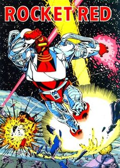 Dmitri Pushkin was both a member of Communist Russia's Rocket Red Brigade and of the Justice League International after the previously assigned Rocket Red #7 was revealed to be a Manhunter android. A kind-hearted and jolly man with a taste for American culture, Dimitri served with the Justice League International for many years.