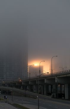 Fog seen from Lake Shore Blvd and Jarvis
