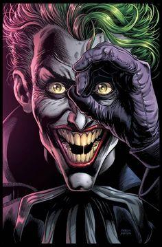 Batman: Three Jokers Book One cover by Jason Fabok, colours by Brad Anderson * Joker Comic, Joker Dc Comics, Arte Dc Comics, Joker Art, Comic Art, Comic Book, Funny Joker, 3 Jokers, Three Jokers