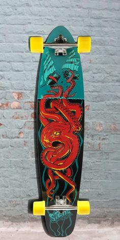 "Longboards USA - Kicktail Longboard 42"" - Octo Red - Stella Longboards - Complete, $98.00 (http://longboardsusa.com/longboards/beginners-longboards/kicktail-longboard-42-octo-red-stella-longboards-complete/)"