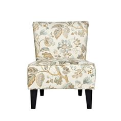 @Overstock - This angelo:HOME Davis transitional armless chair was designed by Angelo Surmelis, creator of a new generation of Modern Classic furniture that combines modern lines with traditional details. http://www.overstock.com/Home-Garden/angelo-HOME-Davis-Vintage-Floral-Ocean-Blue-Armless-Chair/5173989/product.html?CID=214117 $256.99