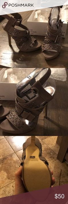 Bakers taupe Lacey heel Bakers brand brand new and never worn.  Taupe color with stud details.  8M Bakers Shoes Heels