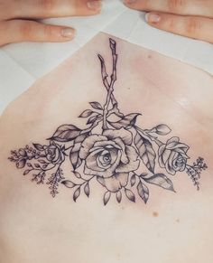 Sternum tattoo ornamental tattoo by monica_manara