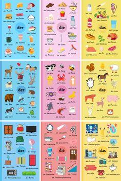 Study German, Learn German, Cool German Words, Vocabulary Notebook, Deutsch Language, Germany Language, German Grammar, German Language Learning, Writing Skills