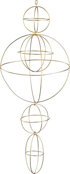 sphere hanging mobile in view all new   CB2