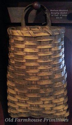Primitive Medium Mustard Hanging Basket