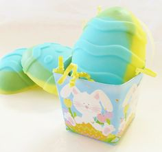 Boys Easter Egg Soap - Blue Yellow & Green by crimsonhill