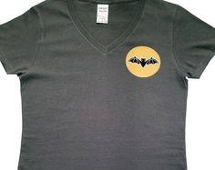 Halloween Inspired Bat V-Neck T-Shirt