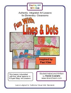 Fun With Lines and Dots - a super easy art lesson inspired by Paul Klee. Great for substitutes!