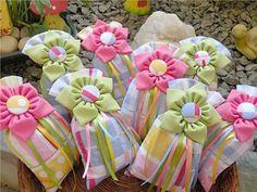 Sachês cheirosos da Flor de Chita Amargosa