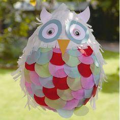 pinata, owl pinata, party pinata, how to make a pinata,kids craft club, craft party ideas, how to make an owl, how to make party decorations, party pinatas, owls, owl, owl crafts, make and craft, make and craft magazine, kids craft, kids crafts, children crafts, http://www.makeandcraft.com/owl-pinata/