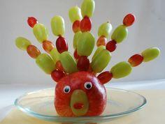 Thanksgiving turkey apple snack
