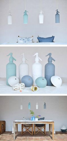 Barcelona-based ceramist Blowawish saw a brilliant lamp idea in the shape of an antique soda siphon. #etsy
