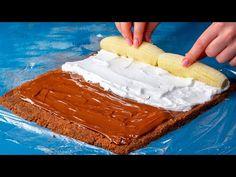 Nepečená roláda s banánem - VařímeDobroty.cz Nutella, Banana Uses, Few Ingredients, Biscuits, Sweet Treats, Cheesecake, Sweets, Kitchen Stuff, Voici