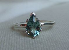 Rare+Mint+Green+Tourmaline+Ring+in+Silver+by+electricavenuedesign,+$135,00
