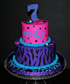 polka dots and stripes birthday cakes - Google Search