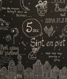 Chalkboard 5 december/ Sinterklaas