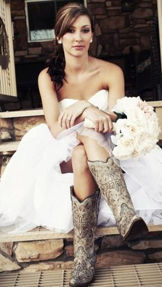 Love the boots with the dress
