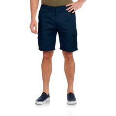 "Men's Flat Front ""Comfort Short"" Hidden Expandable Waist with Device Pocket"