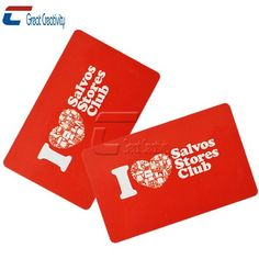 i love salvos stores club PVC plastic loyalty cards