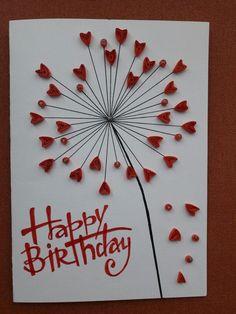 , Birthday Card Drawing, Cool Birthday Cards, Homemade Birthday Cards, Bday Cards, Homemade Cards, 23 Birthday, Birthday Ideas, Valentines Day Cards Handmade, Valentine Crafts