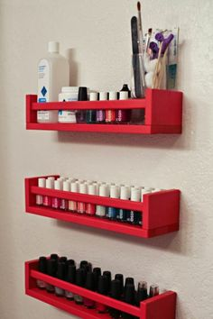 Was tun mit Ikea Bekvam Spice Rack? Estetikev - Was tun mit Ikea Bekvam Gewürzregal - Home Organization Hacks, Bathroom Organisation, Bathroom Storage, Makeup Organization, Organizing Ideas, Organized Bathroom, Bathroom Shelves, Diy Makeup Wall Organizer, Closet Organization