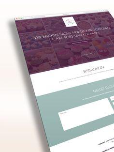 Süß & Glücklich Web Visitenkarte. Grafikdesign und Umsetzung. Kunde: Julia Bärschneider | Süß & Glücklich