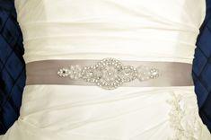 Crystal and Pearl Wedding Belt Wedding Sash by somethingnewdesigns, $30.00