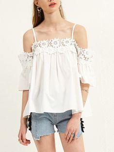 USE CODE: Cassie10 10% off entire order Minimum purchase of US$18.00 Summer Dress Outfits, Boat Neck, Off The Shoulder, Pure Products, Tank Tops, Lace, Womens Fashion, Sexy, Handmade
