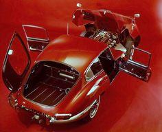 Jaguar E-Type 3.8 Coupé ....Wide Open