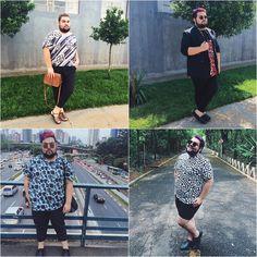 Perfis no instagram de homens gordos e estilosos. #estilo #gordoestiloso #fatshion