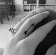 #arrow #tattoo #mini #handpoked  Made by my sister