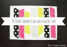 DIY Baby Shower Card - Two Purple Couches