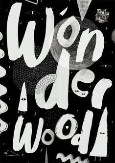 #wonder #wood #poster #black: