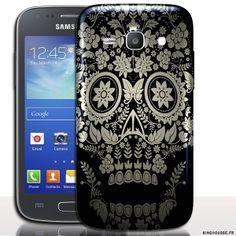 coque pour ace 4 Tatouage - Accessoire design Samsung. #Coque #Samsung #galaxy #Ace #4 #Case #Cover #telephone #portable #skull