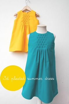 tutorial for pleated A-line dresses