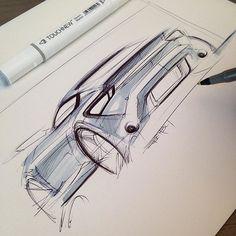 Car sketch #sketchbook #markersketch #cardesign