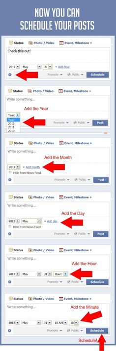 How To Schedule Your #Facebook Posts Right On Facebook. #Infographic