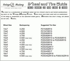 Tire Marking Guide  MechanicS Corner    Tired And