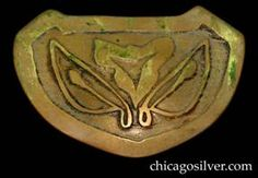 forest craft guild | Forest Craft Guild brooch, brass, shield-shaped, with wide border and ...