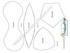 Resultado de imagen para medidas del patron para pelota de tela