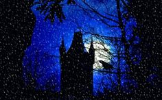 Snowfall at full moon Canvas Print A crow on a tree is watching the snowfall at a fairytale-like tower. The tower is part of the castle in this pic: https://society6.com/product/mystical-castle_print#1=45 winter, castle, tower, blue, black, trees, crow, snow, full moon, night, fairy-tale like, neo-mystical, silhouetteA crow on a tree is watching the snowfall at a fairytale-like tower. The tower is part of the castle in this pic: https://society6.com/product/mystical-castle_print#1=45 winter…