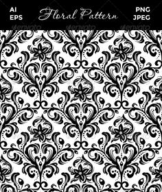 Realistic Graphic DOWNLOAD (.ai, .psd) :: http://jquery-css.de/pinterest-itmid-1008408616i.html ... Seamless Floral Pattern ...  background, black, curl, damask, decoration, decorative, floral, flourishes, illustration, ornament, ornamental, pattern, repeat, retro, seamless, tile, vintage, wallpaper  ... Realistic Photo Graphic Print Obejct Business Web Elements Illustration Design Templates ... DOWNLOAD :: http://jquery-css.de/pinterest-itmid-1008408616i.html