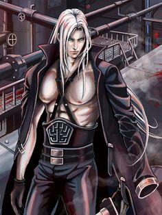sephiroth x kadaj photo: Sephiroth Fantasy Male, Final Fantasy Vii, Fantasy World, Annoying Friends, Vincent Valentine, Why I Love Him, Fantasy Pictures, Hot Anime Guys, Video Game